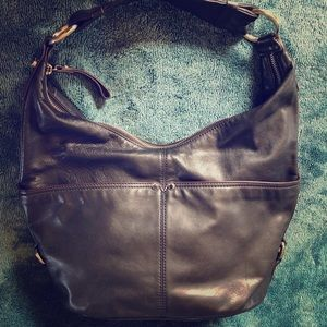 Tignanello Black Leather Shoulder Bag.
